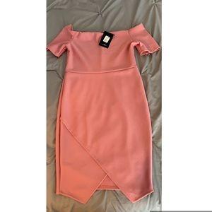 Fashion nova pink bandage dress